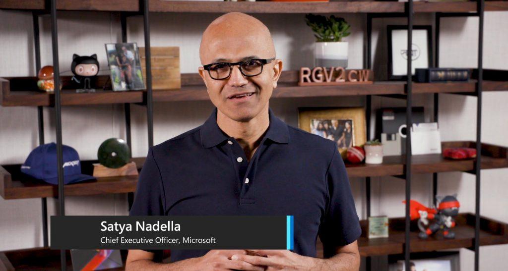 Satya Nadella, CEO Microsoft na konferencji Microsoft Build 2020